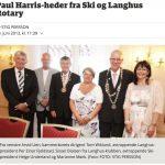 Paul Harris-heder fra Ski og Langhus Rotart - Østlandets Blad