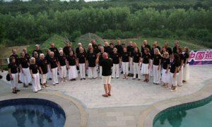 Konsert ved bassenget i Kina