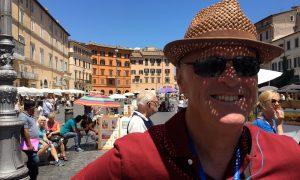 På sightseeing i Roma
